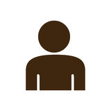 Silhouette half body figure person icon. Illustration Royalty Free Stock Photo