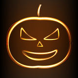 Silhouette of Halloween pumpkin Stock Photo