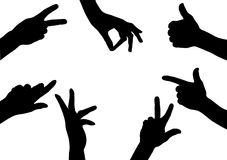 Silhouette hand Royalty Free Stock Images