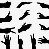 Silhouette hand Stock Photo