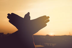 silhouette of a hand gesture like bird Royalty Free Stock Images
