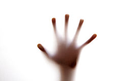 Silhouette hands Royalty Free Stock Photos