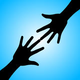 Silhouette of hands Royalty Free Stock Image