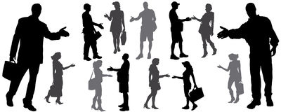 silhouette of handshake Royalty Free Stock Photo
