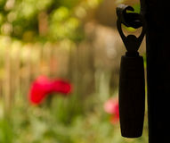 Silhouette of a hanging bottle opener Royalty Free Stock Photography