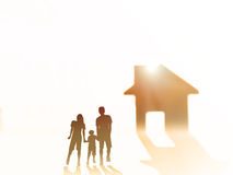 Silhouette happy family Royalty Free Stock Images