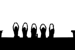 Silhouette of happy women Royalty Free Stock Photos