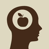 Silhouette head apple icon graphic. Vector illustration eps 10 Stock Images