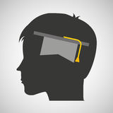 Silhouette head boy student hat graduation Royalty Free Stock Photography