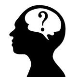 Silhouette of the head and  brain Royalty Free Stock Photos
