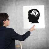 Silhouette of the head Royalty Free Stock Photo