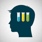 Silhouette head tests tube lab work Stock Image