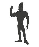 Silhouette healthy man athletic strong Royalty Free Stock Images