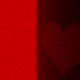 Silhouette of heart on a red background Stock Image