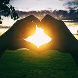 Silhouette of Heart Shape Royalty Free Stock Photos
