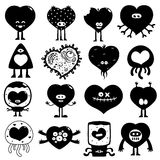 Silhouette hearts Stock Photo