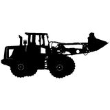 Silhouette of a heavy loaders with  ladle. Vector Stock Images