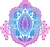 Silhouette Henna Abstract Medallion Vector Stock Image