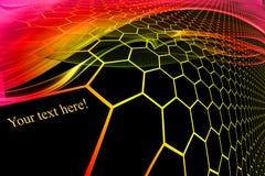 Silhouette hexagonal grid pattern. Gradient silhouette hexagonal grid pattern stock illustration