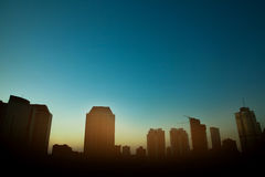 Silhouette of high buildings Royalty Free Stock Images