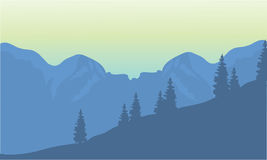 Silhouette of highlands. Silhouette of the highlands at the afternoon Royalty Free Stock Photos