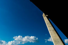 Silhouette of highway ramps on a sunny day Stock Photo