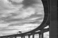 Silhouette of highway Royalty Free Stock Photography