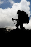 Silhouette hiker Royalty Free Stock Image