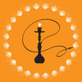 Silhouette of a hookah. Stock Photography