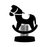 Silhouette horse cart for carousel icon Royalty Free Stock Photography