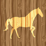 Silhouette horse Royalty Free Stock Image