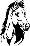 Silhouette of a horse's head Royalty Free Stock Photos