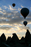 Silhouette of hot air balloon Royalty Free Stock Image