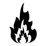 Silhouette hot flame spurts fire design Royalty Free Stock Photo