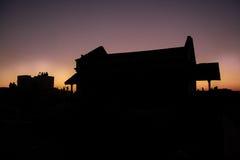 Silhouette House Stock Photos