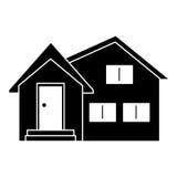 Silhouette housewarming facade exterior design. Vector illustration eps 10 vector illustration