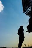 Silhouette human Stock Image
