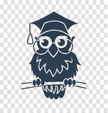 Silhouette icon back to school owl. Icon back to school owl, teachers day. silhouette icon in the linear style Stock Photos