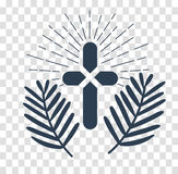 Silhouette Icon palm Sunday Royalty Free Stock Photography