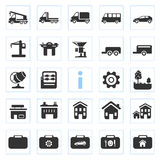Silhouette icons Royalty Free Stock Photography