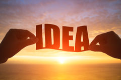 Silhouette of idea word Royalty Free Stock Images
