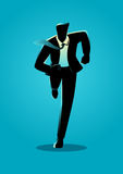 Silhouette illustration of a businessman running. Business, energetic, dynamic concept royalty free illustration