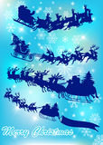 Silhouette Illustration of Flying Santa and Christ Royalty Free Stock Images