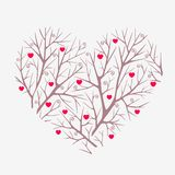 Heart. Silhouette illustration of a heart made ??of branches Stock Photo