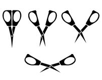 Silhouette image of opening and closing little nail scissors Stock Image