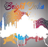Silhouette of India with watercolor splash Royalty Free Stock Image