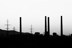Industrial silhouette Stock Photos