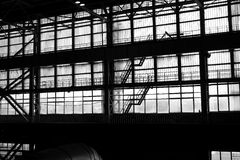 Silhouette of an industrial facility Stock Image