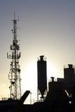 Silhouette industrielle Photo libre de droits