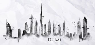 Silhouette ink Dubai Royalty Free Stock Photo